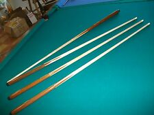 "4 Brand New One Piece Pool Cues sticks Bar House Maple 4-Prong inlay 48"" inch"