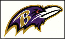 BALTIMORE RAVENS NFL TEAM LOGO LICENSE FOOTBALL INDOOR DECAL STICKER