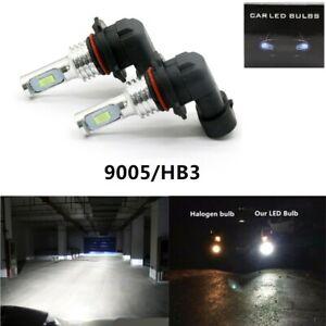 2X HB3 9005 60W 12V Xenon White 6000K Light Car Headlight Lamp Globes Bulbs LED