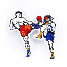 Embroidered Iron On Patch Muay Thai Boxing Fabric Accessories Craft DIY