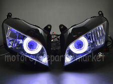 Headlight HID Light Custom Blue Angel Eye For Honda CBR 600RR 07-12 08 09 10 11