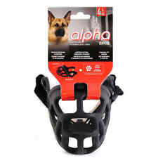Zeus TPR Muzzle Bark Collar No Dog Anti Barking Training Pet New Size Large