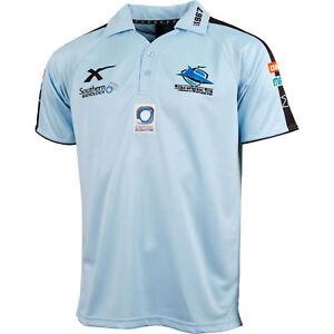 Cronulla Sharks Mens Sky Player Polo Shirt (M to 5XL)