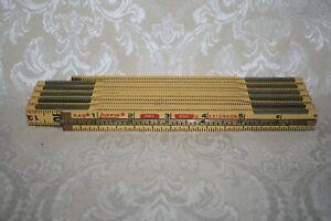 Vintage LUFKIN RULE CO. No. X46 EXTENSION RULE Folding Wood Ruler 6 FOOT LONG