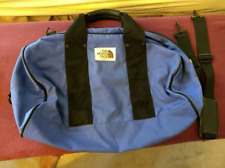 Vintage 80's The North Face Brown Label Gym Bag Duffle Weekender Carryon, Blue