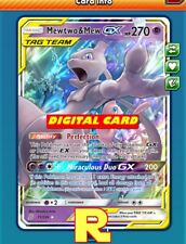 Mewtwo & Mew GX - Regular - for Pokemon TCG Online (DIGITAL ptcgo in Game Card)