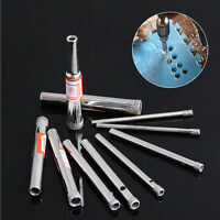 10Pcs 3/4/5/6/8mm Diamond Coated Core Saw Hole Drill Tool For Glass Marble Tiles
