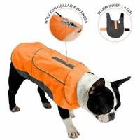 IREENUO Waterproof Dog Coat Raincoat Jacket Reflective Night Safety Jumper- XL