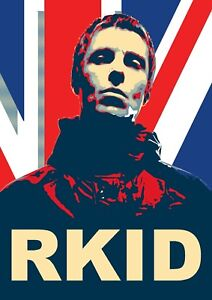 Liam Gallagher RKID Britpop A2 Poster 594mm x 420mm oasis Band Union Jack Music