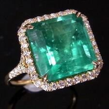 5.5ct Emerald Diamond Ring 18k White Rose Yellow Gold or Platinum