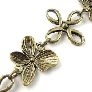 1 Meter Vintage Bronze Metal Bowknot Butterfly Link Necklace Chains DIY Jewelry