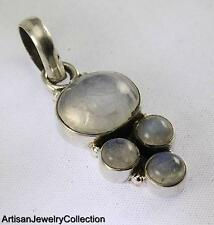 RAINBOW MOONSTONE PENDANT 925 STERLING SILVER ARTISAN JEWELRY COLLECTION R751A