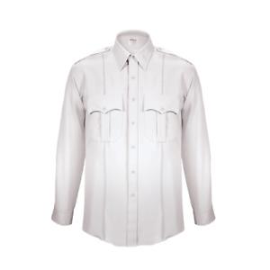 Men's ELBECO TexTrop Long Sleeve White Shirt 16.5 x 36/37- Broward County Patch