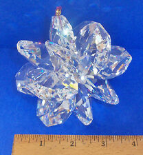 J'Leen Extra Large Austrian Clear Crystal Suncluster Snowflake Collectible