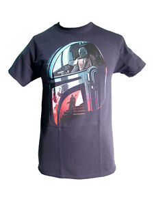 "Star Wars The Mandalorian Herren T-Shirt Schwarz ""Helmet Reflection"""