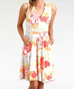 FRESH PRODUCE Large White BLOSSOMS Lily Stretch Knit Tank Dress $89.00 NWT New L