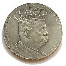 1891 Italy - 5 Lire Nickel Umberto I Re D'Italia - Colonia Eritrea