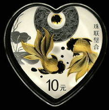 2018 Ausplclous Cultrue Heart goldfish 30g silver coin with coa and box