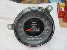 Vintage Trojan wood Boat Tachometer Beautiful condition dry storage 1957 cable