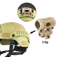 Plastic Quick Release Flashlight Clamp Clip Mount Accessory for Fast Helmet