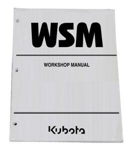 Kubota M6800 M6800S M8200 M9000 Tractor Workshop Service Manual Repair Shop Book