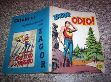ZAGOR ZENITH N.90 ORIGINALE 1968 OTTIMO TIPO WEST TEX MARK ARALDO RANGER