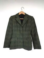 """CALDENE Ladies Tweed Wool Hunting Show Hacking Riding Jacket Green 30"""" Size 6/8"""