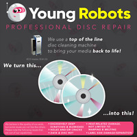 10 Video Game, Gamecube, CD DVD Blu-Ray Disc Repair Service - Remove Scratches