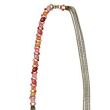 Konplott Halskette Collier lang Alien Caviar pink  / orange