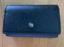 COACH F73992 FIVE RING KEY CASE Crossgrain Leather Black NWT (MCL)