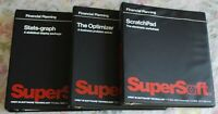 Vintage 1982 SuperSoft ScratchPad, Optimizer, Stats-Graph CPM software MANUALS