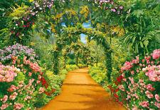 Papier Peint Photo Mural-FLOWER ALLEY(54P)-350x260cm Impression Numérique Fleurs