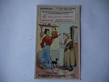 CHROMO PUBLICITAIRE CHOCOLAT GUERIN-BOUTRON N°195 GRAPHOLOGIE