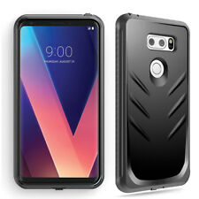 Full Coverage Shockproof Cover Case For LG V30 / LG V35 ThinQ / V30 Plus Black
