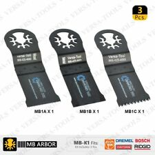 Versa Tool MB-K1 Bi-Metal Oscillating Saw Blade Set Fits Dremel Fein Multimaster