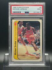1986 Michael Jordan Fleer Sticker #8 - PSA 9 Rookie  RC - Razor Sharp / Centered