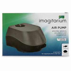 Imagitarium Air Pump ( 4 WATT ) ADJUSTABLE AIRFLOW - 2 OUTLETS - 60 to 100 GAL