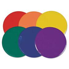 "Champion Sports Poly Spot Marker Set 9"" Disks Assorted Colors 6/Set MSPSET"
