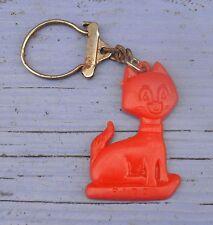 Porte-clé des années 1960-70, chat Fido rouge