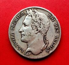 MONNAIE ANCIENNE ARGENT 5F ECU DE LEOPOLD PREMIER ROI DES BELGES 1847