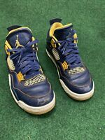 RARE Nike Air Jordan IV 4 Retro Dunk From Above Navy Gold Gum SZ 9.5 308497-425