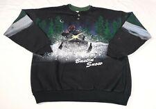 Vintage Artisans Sunschein Designs Snow Mobile Bustin Snow Painted Sweatshirt L