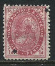Tonga 1891 1d overprinted with 2 stars mint o.g.