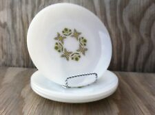 Anchor Hocking Meadow Green Milk Glass Salad Or Dessert Plates Set Of 4