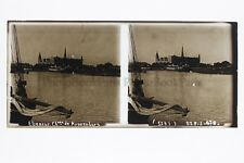 Danemark Elseneur Kronenbourg Plaque verre STEREO Positif 6x13cm Vintage