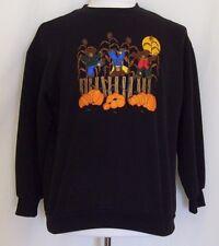 Womens Teddy Bears Embroidered Sweatshirt Harvest Medium Corn Stalks Pumpkins