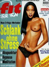 Fit for Fun 1/1997 -  Naomi Campbell, Sport und Potenz, Brain-Fitness, Workouts