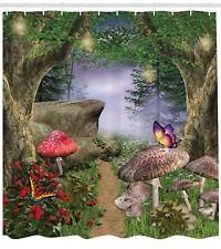 Enchanted Nature Pathway Butterflies Fairytale Landscape Rocks Shower Curtain