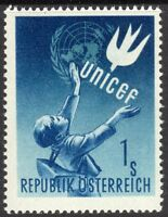 Austria 1949 UNICEF blue 1s unmounted mint  SG1166