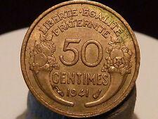 BOIS5(17) - 50 CENTIMES - MORLON - 1941 - QUALITE SUP à SUP+ !